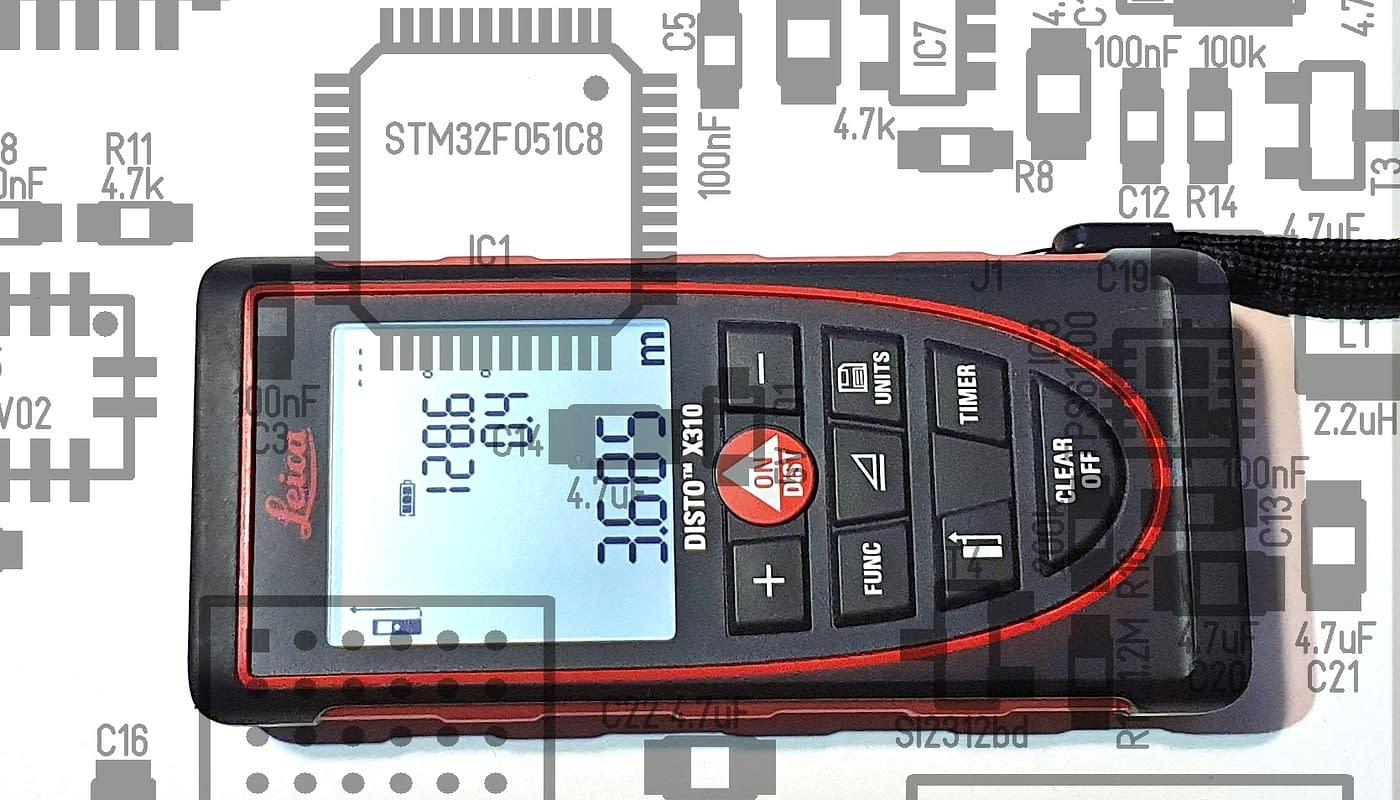 Leica distoX module for caving survey