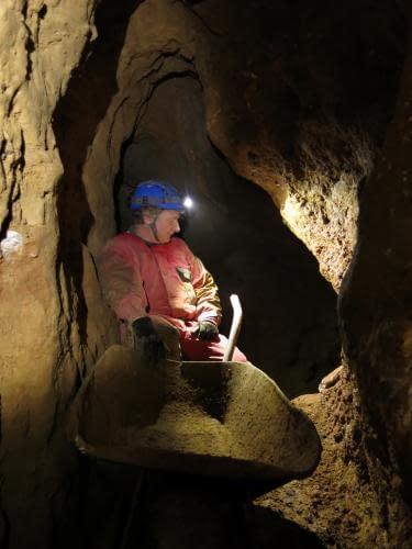 Milan s kolečkama, jeskyně Vymodlená